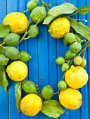 Fresh organic Lemons — Stock Photo