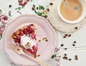 Slice of plum pie — Stock Photo