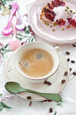 Vintage cup with coffee — Stock Photo