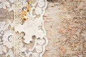Rustic background for christmas — Stock Photo