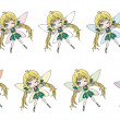 2d fairy set — Stock Photo