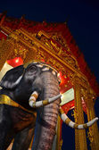 Elephant in the temple, religious symbol — Stock Photo