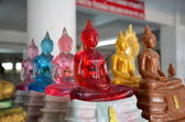 Color Buddhas selling in the temple of Thailand — Stock Photo