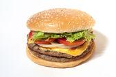 Hamburger on white background — Stock Photo