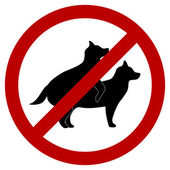 No doggie breeding Sign — Stockvector