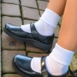 Thai schoolgirl's shoe — ストック写真