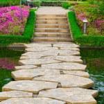 chemin caillouteux dans le jardin — Photo #27666373