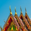 Golden temple gable — Stock Photo