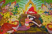 Buddha's biography: Goddess of the Earth protecting the Buddha — Stock Photo