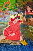 Buddha's biography: Wishing for success — Stock Photo
