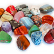 Colorful stones closeup (isolated) — Stock Photo #27689085