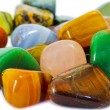 Colorful stones closeup (isolated) — Stock Photo