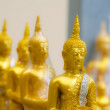 Little Buddhas in a row — Stock Photo