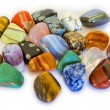 Colorful Stones isolated — Stock Photo