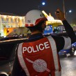 Thai Police on Night Shift — Stock Photo #28475649