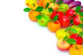 """Thaise inheemse snoep gemaakt in fruit vorm met de naam """"look choop"""" — Stockfoto"""