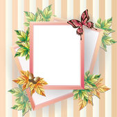 Maple afbeeldingsframe. — Stockvector