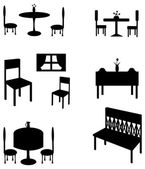 Sets of silhouette furniture, create by vector — Stock Vector