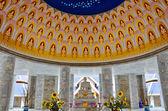 Schöne marmornes Denkmal des berühmten Mönch aus thailand — Stockfoto