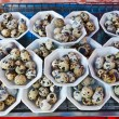 Boil Quail's egg selling in Thailand. — Stock Photo