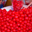 Cherry preserved in syrup in Thailand open market — Stock Photo