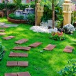 Nicely decorated garden — Stock Photo