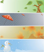4 seasons banner — Stock Vector