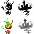 Detail Halloween decoration set — Stock Vector