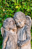 Ancient Angel Statues in the Forest — Stock Photo