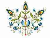 Polish folk with ornamental floral — Stock Vector