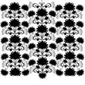 Folk pattern black and white — Stock Vector