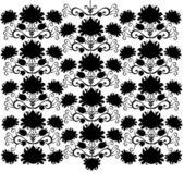 民间图案黑色和白色 — 图库矢量图片