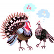 Stock Vector: Turkeys