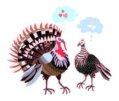 Turkeys — Stock Vector
