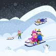 Fun on snow — Imagen vectorial