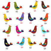 Birds different colors — Stock Vector