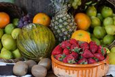 Taproom, tropical fruit — Stock Photo