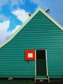 The little green barn — Stock Photo