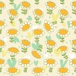 Floral seamless baby pattern — Stock Vector