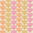 Lacy seamless pattern with hearts. Decorative background — Stock Vector