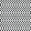 Geometric black and white seamless pattern. Netting structure. Abstract contour background  — Stock Vector