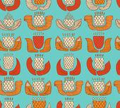 Motif ethnique coloré avec différentes fleurs, bourgeons et feuilles. fond sans fin avec des éléments décoratifs natives. main dessinée texture élégant pour les arrière-plans, paquets, textile — Vecteur