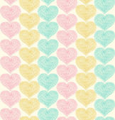 Lacy ornate seamless pattern with hearts. Decorative background — Stock Vector