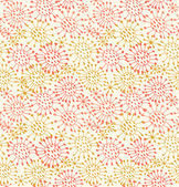 Seamless decorative pattern. Endless hand drawn background with circles and dots — Stock Vector