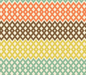 Geometric colorful seamless pattern. Netting structure. Abstract tiles background — Stock Vector