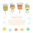 Cute floral set Doodle collection of spring flowers. Decorative blooming elements for cards, banners, banners, arts — Stock Vector