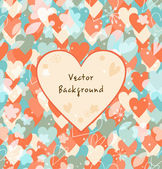 Background with hearts. Vintage multicolors banner — Stock Vector