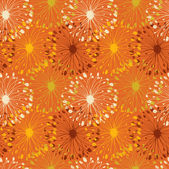 Orange grunge radial pattern. Decorative floral seamless background for crafts, textile, wallpapers, web pages — Stock Vector
