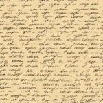 brief eindeloze patroon. script naadloze achtergrond. schets van het schrijven van de kalligrafie sjabloon — Stockvector