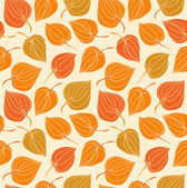 Colorful floral seamless pattern. Contrast fabric texture with decorative trees. Cute background with leafs for curtains, clothes, prints, wallpapers, packages — Stock Vector